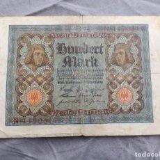 Billetes extranjeros: ALEMANIA 100 MARCOS 1920. Lote 235472465