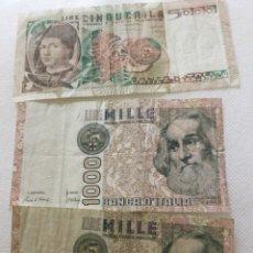 Billetes extranjeros: BILLETES ITALIANOS. Lote 235518065