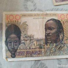 Billetes extranjeros: BILLET ETATS DE L'AFRIQUE DE L'OUEST A COTE D'IVOIRE - 100 FRANCS - 20.3.1961 -. Lote 235849025