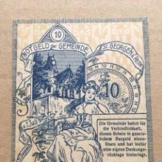 Billetes extranjeros: BILLETE, AUSTRIA, SANKT GEORGEN AM REITH, º10 HELLER, PERSONNAGE, 1920. Lote 235849425