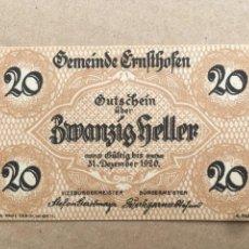 Billetes extranjeros: AUSTRIA - ALTHOFEN 20 HELLER 1920 SC. Lote 235851035