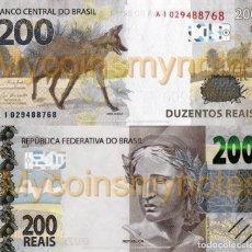 Billetes extranjeros: BRAZIL, 200 REAIS, 2020, PREFIX AL, PNEW (NOT YET IN CATALOG), UNC. Lote 235857020