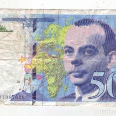 Billetes extranjeros: 50 FRANCOS - FRANCIA - 1994. Lote 236112090