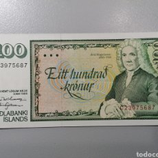 Billetes extranjeros: BILLETE ISLANDIA 100 CORONAS 1994 UNC FEDEROTA. Lote 236220300