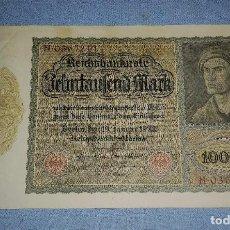 Billetes extranjeros: BILLETE DE ALEMANIA 10000 MARK AÑO 1922 GRAN TAMAÑO ORIGINAL EXCELENTE ESTADO. Lote 236391825