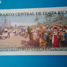 Billets internationaux: BILLETE COSTA RICA. 5 COLONES 1990. SIN CIRCULAR. Lote 236566810