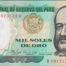 Notas Internacionais: BILLETES - PERU - 1000 SOLES DE ORO 1981 - SERIE B-O - PICK-122 (SC). Lote 236860975