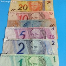 Notas Internacionais: BRASIL LOTE DE 6 BILLETES CIRCULADOS DIFERENTES. Lote 236875430