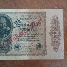 Billetes extranjeros: ALEMANIA 1000 MARCOS 1922 PIK 113. Lote 237298530
