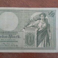 Billetes extranjeros: ALEMANIA 10 MARCOS 1906 PIK 9B. Lote 237298930