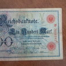 Billetes extranjeros: ALEMANIA 100 MARCOS 1903 PIK 22. Lote 237299125