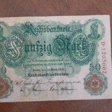 Billetes extranjeros: ALEMANIA 50 MARCOS 1906 PIK 26B. Lote 237299550