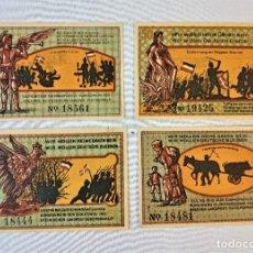 Billetes extranjeros: CUATRO BILLETES ALEMANIA - 50 PF. GEMEINDE SÜDERBRARUP 1920. Lote 237299915