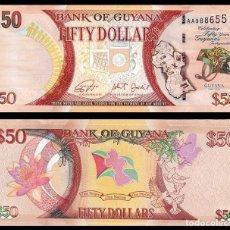 Billetes extranjeros: GUYANA: 50 DOLARES. ( CONMEMORATIVO ). SC. UNC. Lote 262936350