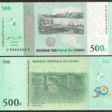 Banconote internazionali: CONGO REP. DEM. CONMEMORATIVO 500 FRANCS 30.06.2010. S/C. Lote 262728960