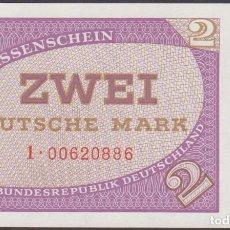 Billetes extranjeros: BILLETES - GERMANY-ALEMANIA - 2 DEUTSCHE MARK - N/D. - SERIE 1-00620858- PICK-29 (SC). Lote 281046353