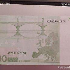 Billetes extranjeros: BILLETE 100 EUROS 2002 CON ERROR. Lote 239505665