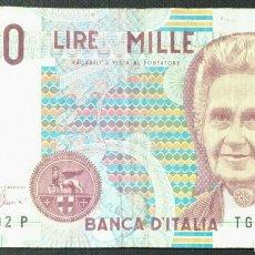 Billetes extranjeros: BILLETE DE ITALIA 1000 LIRAS AÑO 1990. Lote 239933710