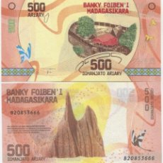 Billetes extranjeros: MADAGASCAR 500 ARIARY 2017 P 99 UNC. Lote 240281800