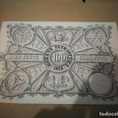 Billetes extranjeros: AUTENTICO BILLETE ITALIANO 100 LIRAS (VENECIA) 1848. Lote 240348480