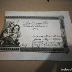 Billetes extranjeros: AUTENTICO BILLETE 50 LIRAS DEL REINO DE TURÍN DEL 1799. Lote 240513660