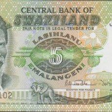 Billetes extranjeros: BILLETES - SWAZILAND - 5 EMALANGENI (1984) - SERIE J 671758 - PICK-9B (SC). Lote 240710845