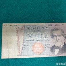 Billetes extranjeros: ITALIA: 1000 LIRAS. Lote 241318200