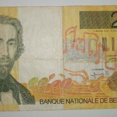 Billetes extranjeros: BILLETE BELGICA 200 FRANCOS 1995 . EL DE LA FOTO. Lote 241333655