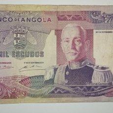 Billetes extranjeros: BONITO BILLETE 1000 ESCUDOS 1972 ANGOLA . EL DE LAS FOTO. Lote 241360495