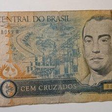 Billetes extranjeros: BILLETE BRASIL 100 CRUZADOS EL DE LA FOTO. Lote 242126065