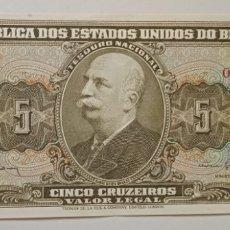 Billetes extranjeros: BILLETE BRASIL 5 CRUZEIROS EL DE LA FOTO. Lote 242127950