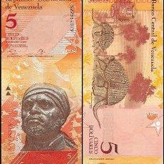 Billets internationaux: VENEZUELA - 5 BOLIVARES DE 2013 - SIN CIRCULAR. Lote 242325795