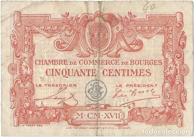 FRANCIA - FRANCE 50 CENTIMES 1917 BOURGES (Numismática - Notafilia - Billetes Internacionales)