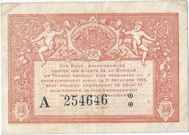 Billetes extranjeros: Francia - France 50 centimes 1917 Bourges - Foto 2 - 243009485