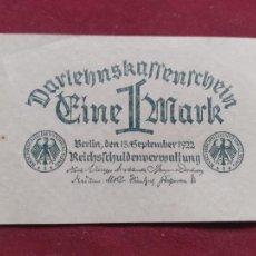 Billetes extranjeros: ALEMANIA REPÚBLICA WEIMAR , 1 MARCO 1922. Lote 269175378