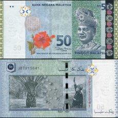 Billetes extranjeros: MALAYSIA 50 RINGGIT 2009 P 50A UNC. Lote 243519225