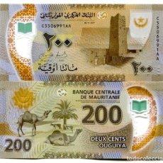 Billetes extranjeros: MAURITANIA 200 OUGUIYA 2017 2018 P NEW POLYMER UNC. Lote 243519260