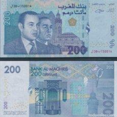 Billetes extranjeros: MOROCCO 200 DIRHAMS 2002 P 71 UNC. Lote 243519800