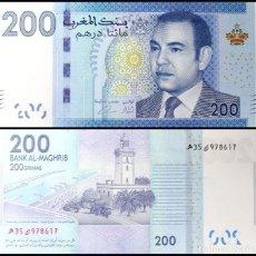 Billetes extranjeros: MOROCCO 200 DIRHAMS 2012 (2013) P 77 UNC. Lote 243519870