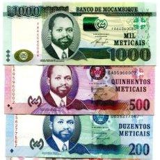 Billetes extranjeros: MOZAMBIQUE SET 6 PCS 20 50 100 200 500 1000 METICAIS 2011 2017 P 149 154 UNC. Lote 243519960