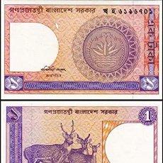 Billetes extranjeros: BANGLADESH - 1 TAKA DE 1993 - SIN CIRCULAR. Lote 269349938