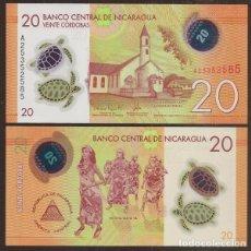 Billetes extranjeros: NICARAGUA. 20 CORDOBAS RESOLUCION 26.3.2014. S/C. POLIMERO. PICK 211.. Lote 243864280