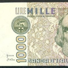 Billetes extranjeros: CMC ITALIA (ITALY) 1000 LIRAS 1982 PICK 109-A SC. Lote 243864570