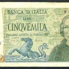 Billetes extranjeros: CMC ITALIA (ITALY) 5000 LIRAS 1973 PICK 102-B BC. Lote 243869245