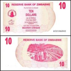 Billetes extranjeros: ZIMBABWE -10 DOLLARS DE 2006 - SIN CIRCULAR. Lote 243882220