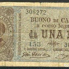 Billetes extranjeros: CMC ITALIA (ITALY) 1 LIRA 1918-20 PICK 36-B BC-. Lote 243882535