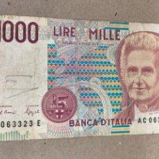 Billetes extranjeros: BILLETE 1000 LIRE ITALIA 1990. Lote 244500430