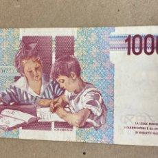 Billetes extranjeros: BILLETE 1000 LIRAS ITALIA 1990. Lote 244501005