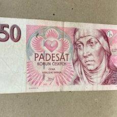 Billetes extranjeros: BILLETE 50 KORUN CESKYCH 1997. Lote 244502555