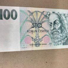 Billetes extranjeros: BILLETE DE 100 CORUN CESKYCH. Lote 244504035